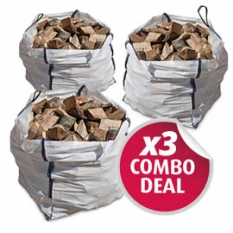 Image of x3 (Triple Deal) Builders Bag of Seasoned Mixed Logs (approx 1m3)